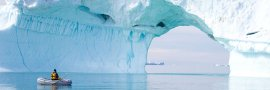 Rowing past an Iceberg, Greenland